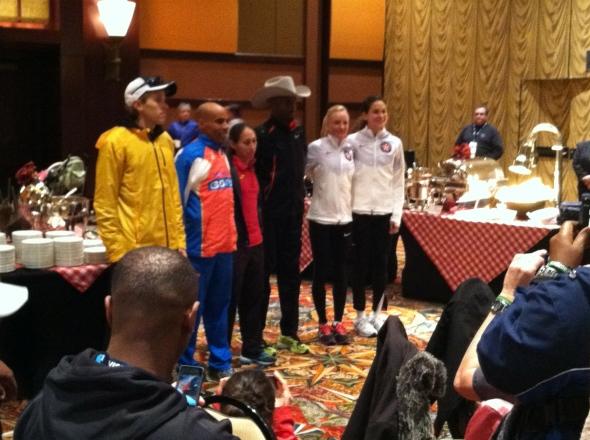 Ryan, Meb, Desi, Abdi, Shalane, Kara.