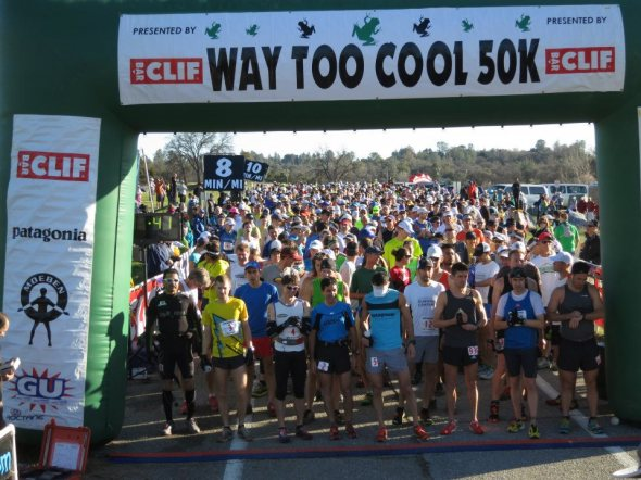Start of Way Too Cool - photo from NorCal Ultras