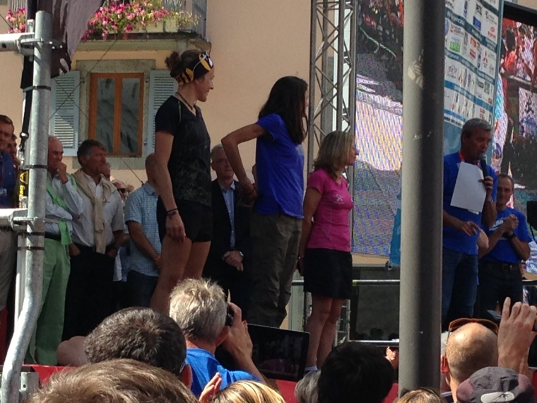 Super star Rory receiving her award. Being on that stage makes one feel a little like Evita! I had my moment with a 2nd place age-group placing.