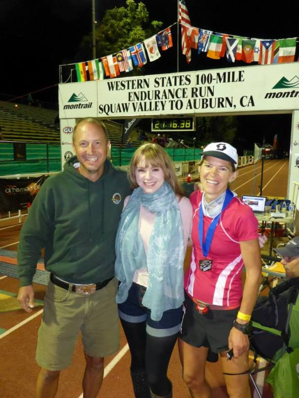 Craig, Ruby and I at the finish. Photo by Chris Jones.